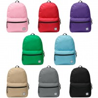 "17"" School Backpack - 8 Solid Colors"