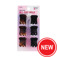 Small Jaw Hair Clips 6-Packs