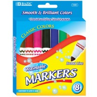 Broad Line Jumbo Washable Markers 8-Packs