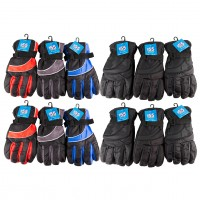 Men's Assorted Color Ski Gloves