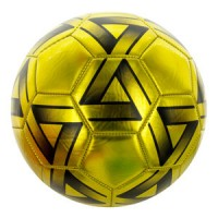 Size 5 Metallic Gold & Black Soccer Balls