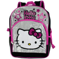 Black & Pink Hello Kitty Stars Backpacks
