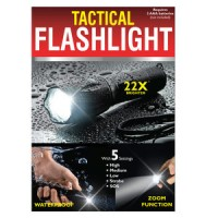 Waterproof Tactical Zoom Flashlights